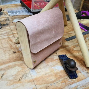 Wood and leather bag: A work in progress...