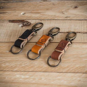 Introducing the oak bark leather keychain