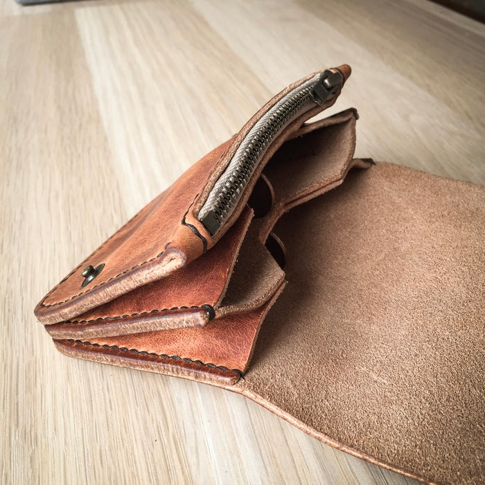 Introducing Colville Leather's latest handmade leather wallet: 'The Dart'