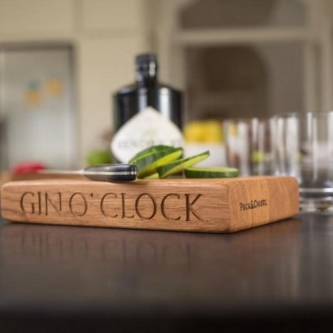Image of the Gin O Clock Drinks Board from Craftd.com
