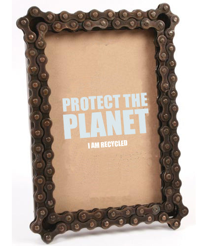 Image showing recycled bike chain photoframe from Protect the Planet