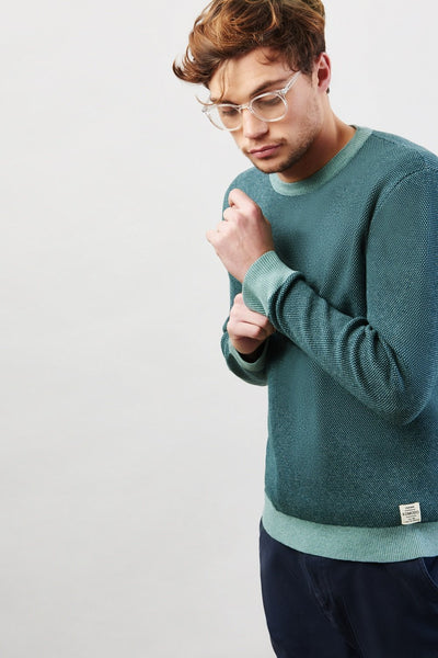 Image of man modelling Komodo Carl jumper sold by Sanchos dress
