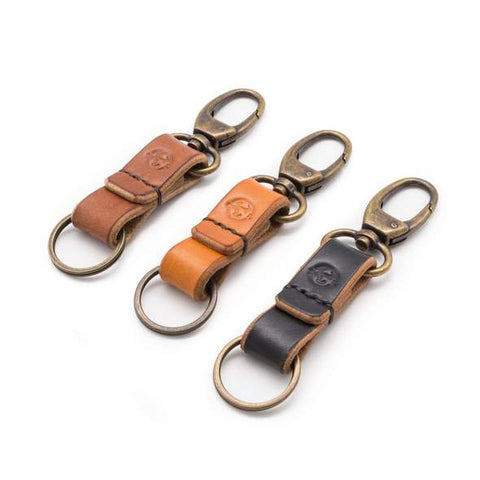 oak bark keychain by Colville Leather