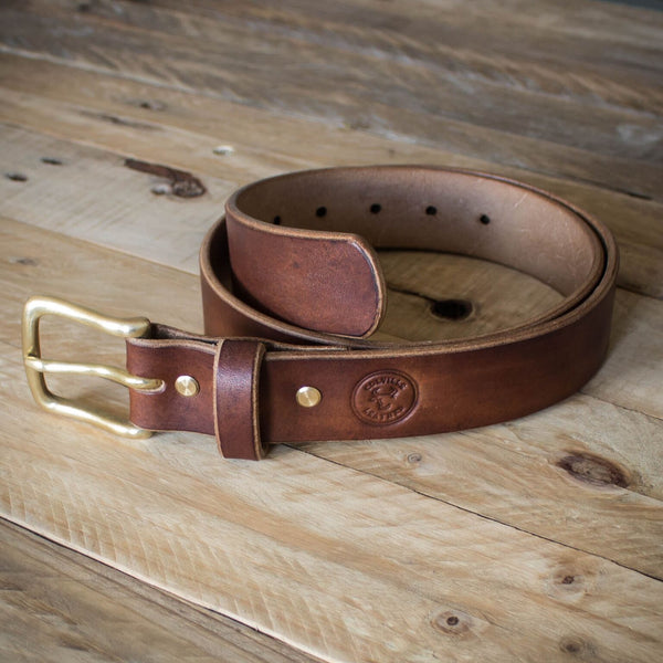 Image showing oak bark leather belt from Colville Leather