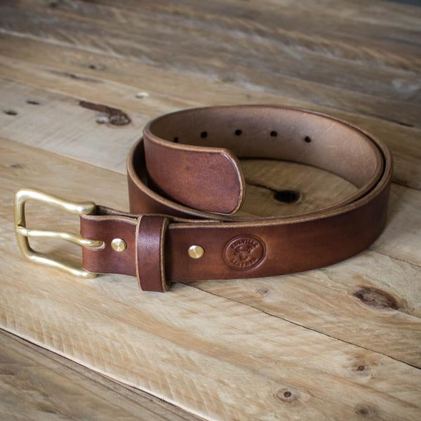 Oak Bark Tanned Leather Belt