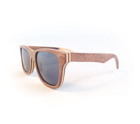 Image showing Petrel wooden sunglasses