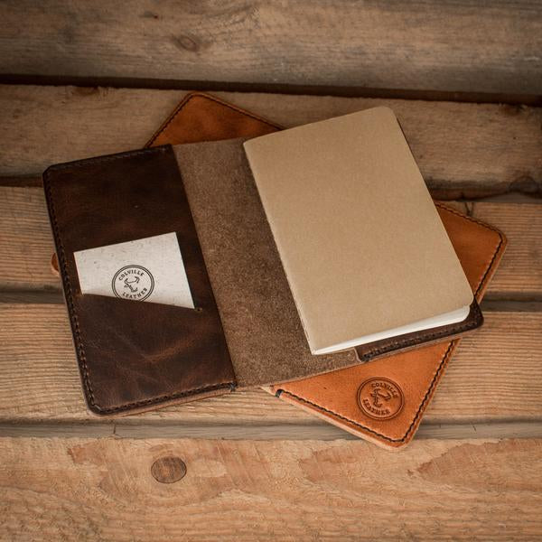 Image showing Colville Leather's handcrafted Tourer notebook holder