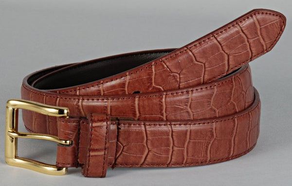 image showing belt made from alligator skin