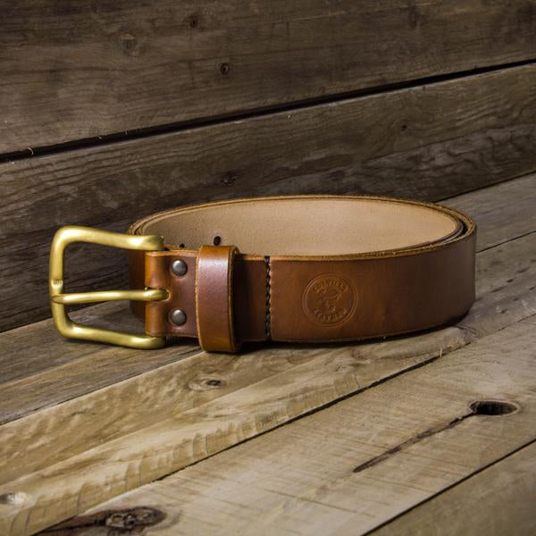 Image showing a hand-dyed Colville Leather men's belt