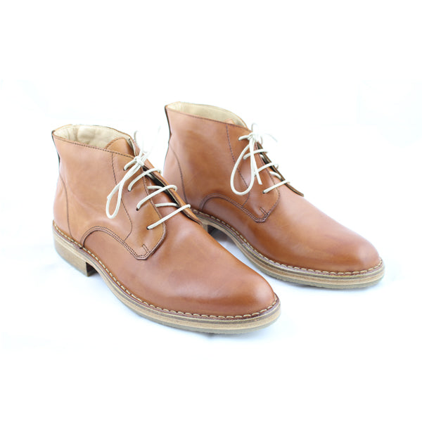 image showing EcoWolfe's brown leather boots