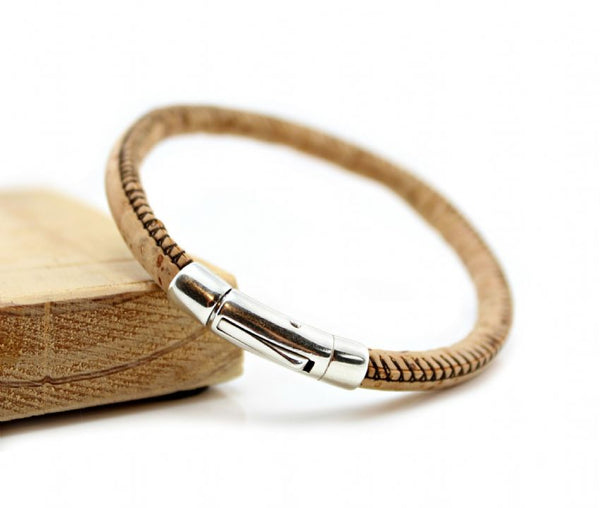 image of men's cork bracelet from Carla Marie Jewellery