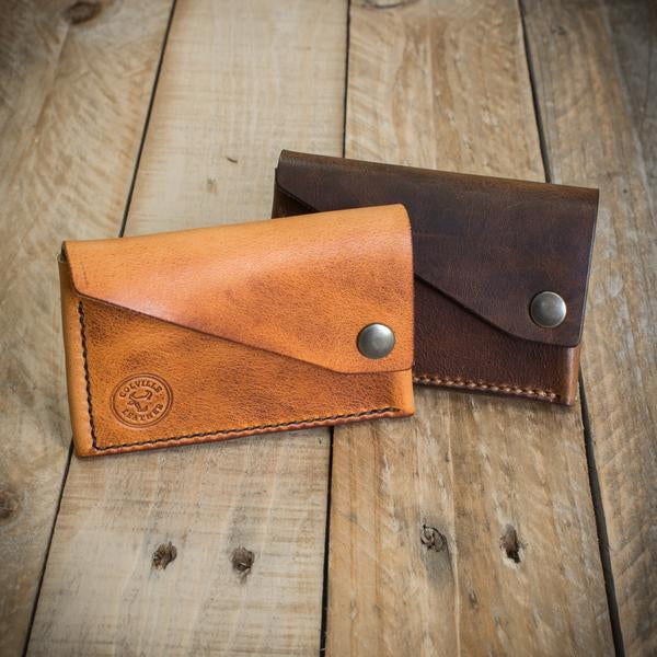 The Cove handmade leather wallet from Colville Leather