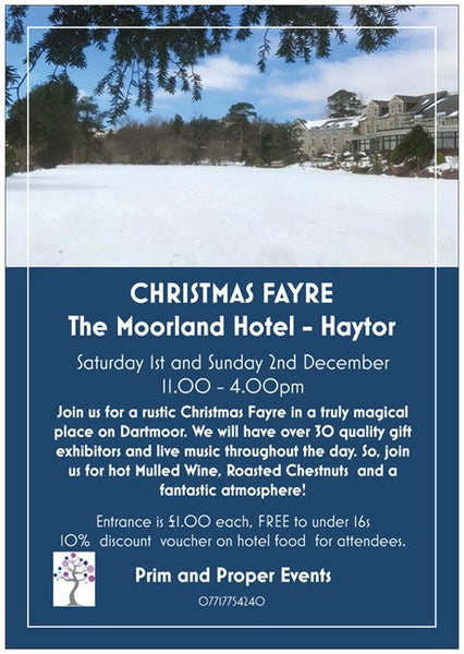 flyer for the Dartmoor Christmas fair 2018