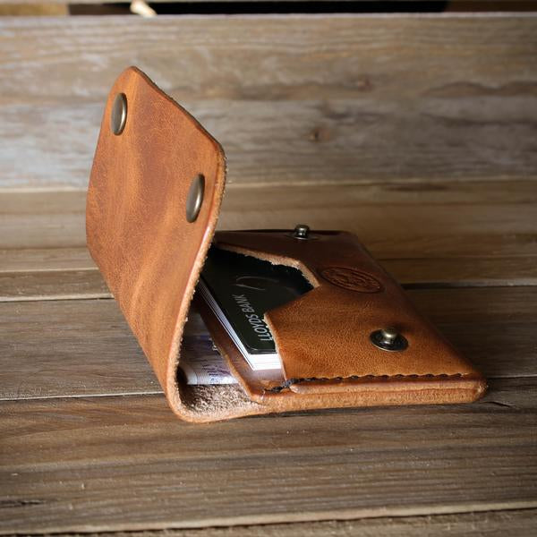 Handmade leather wallet from Colville Leather