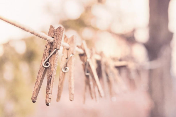 pegs on washing line for ethical fashion