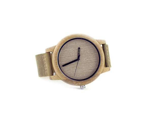 Image showing The Grayson Maple and Leather Watch for groomsmen gifts