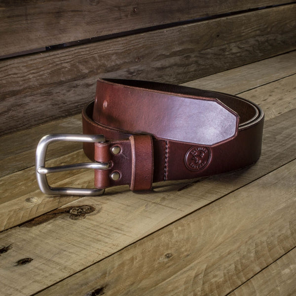 image of handcrafted leather belt from Colville Leather