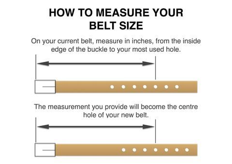 how to find your belt size by measuring an existing belt