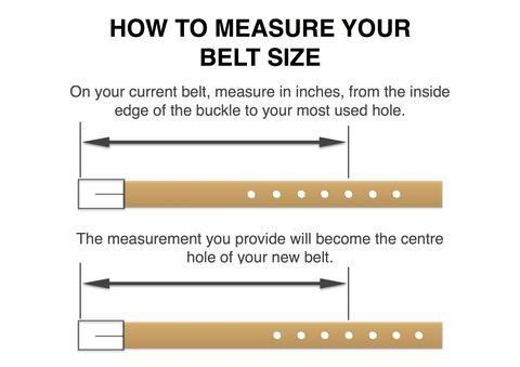 how to measure your belt size diagram