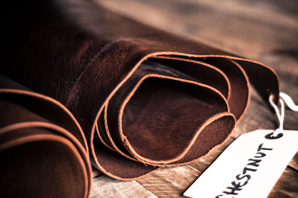 image showing a roll of leather used for Colville Leather products