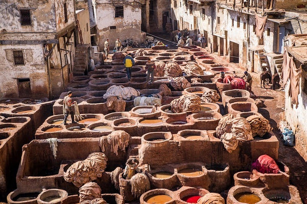 a leather tannery in Morocco