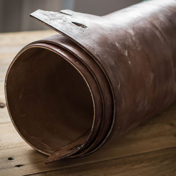 roll of J and JF Baker leather for Colville Leather belts