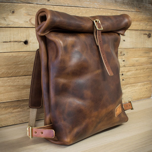 Horween Leather roll-top backpack from Colville Leathr