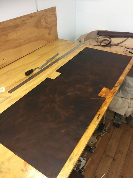Horween Derby Leather roll-top process from Colville Leather