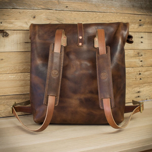 Horween Derby Leather rolltop backpack from Colville Leather