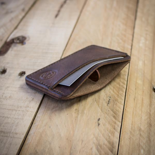 Image showing the Runnel handmade leather wallet from Colville Leather