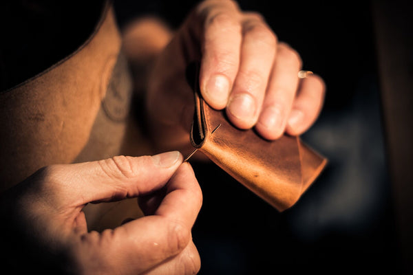 Image of Colville Leather stitching process