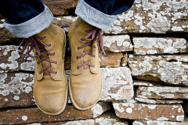 man wears shoes by uk artisan fashion brand conker