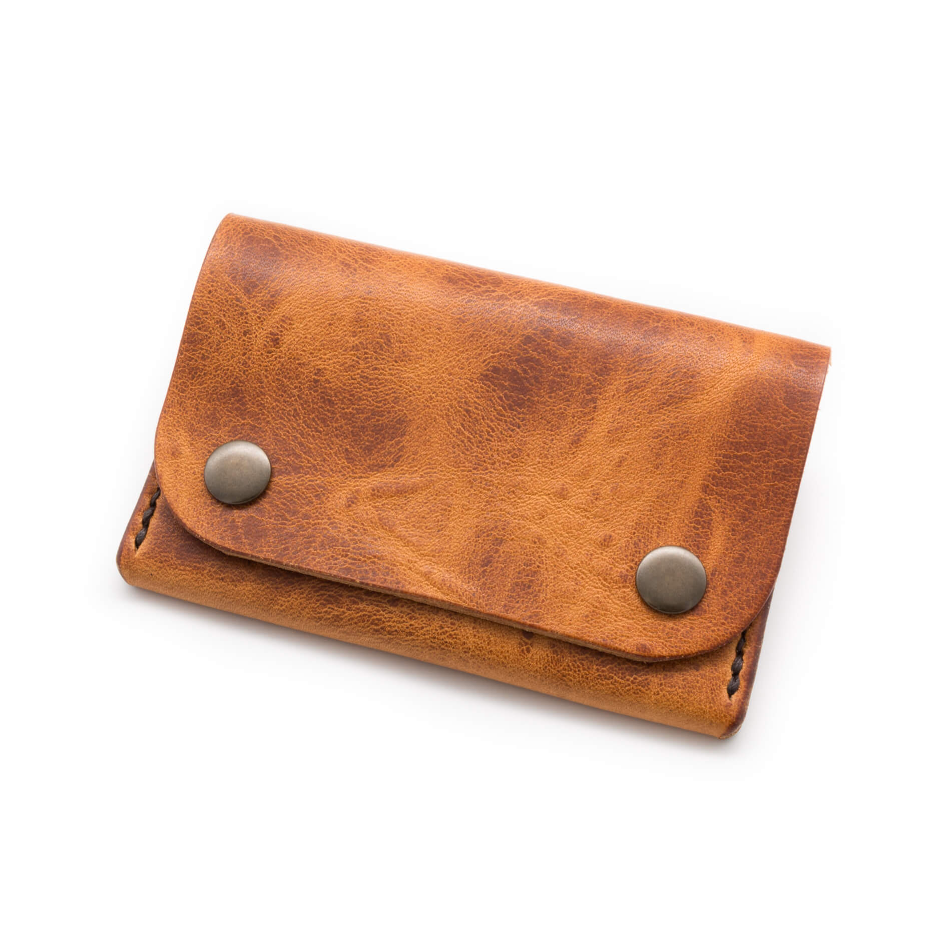 The Delta leather wallet in Horween English Tan leather