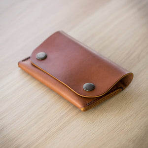 The Delta leather wallet in Tan