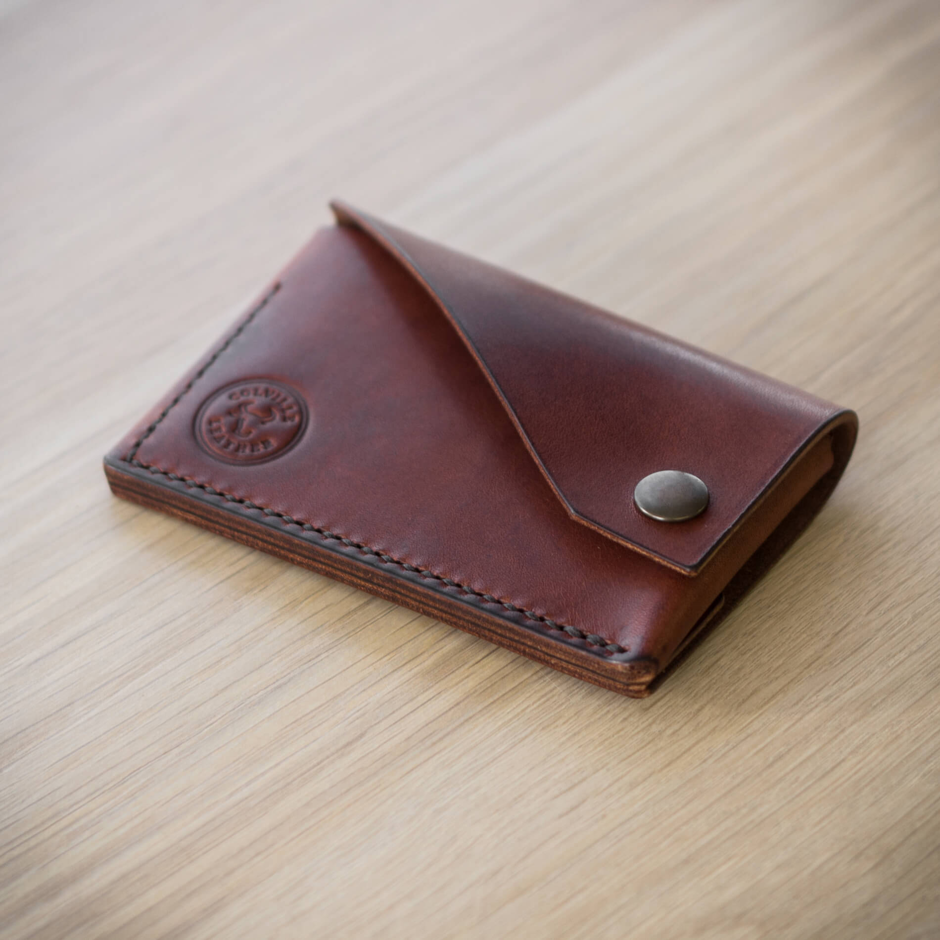 Colville Leather handmade wallet, The Cove