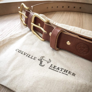 Colville Leather cotton bags and leather belts