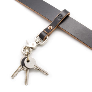Keychain attached to matching belt with keys