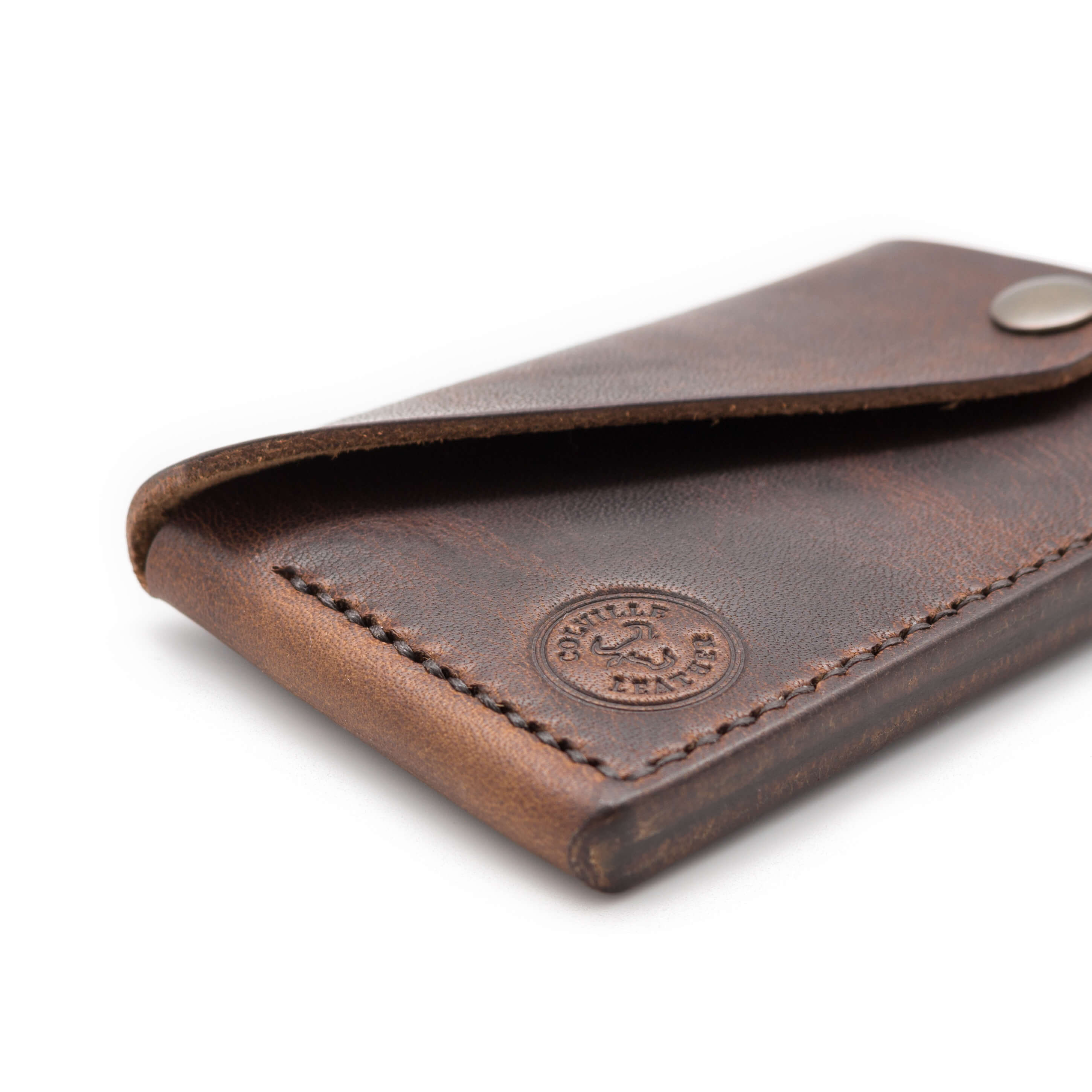 Handmade leather wallet in Horween Leather