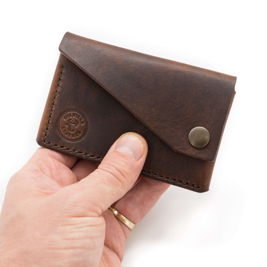 Leather wallet in Brown Horween leather