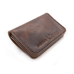 Details, handmade leather wallet, Totnes, Devon