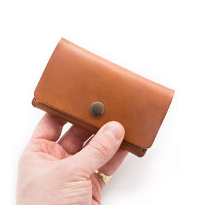 handmade leather card pouch