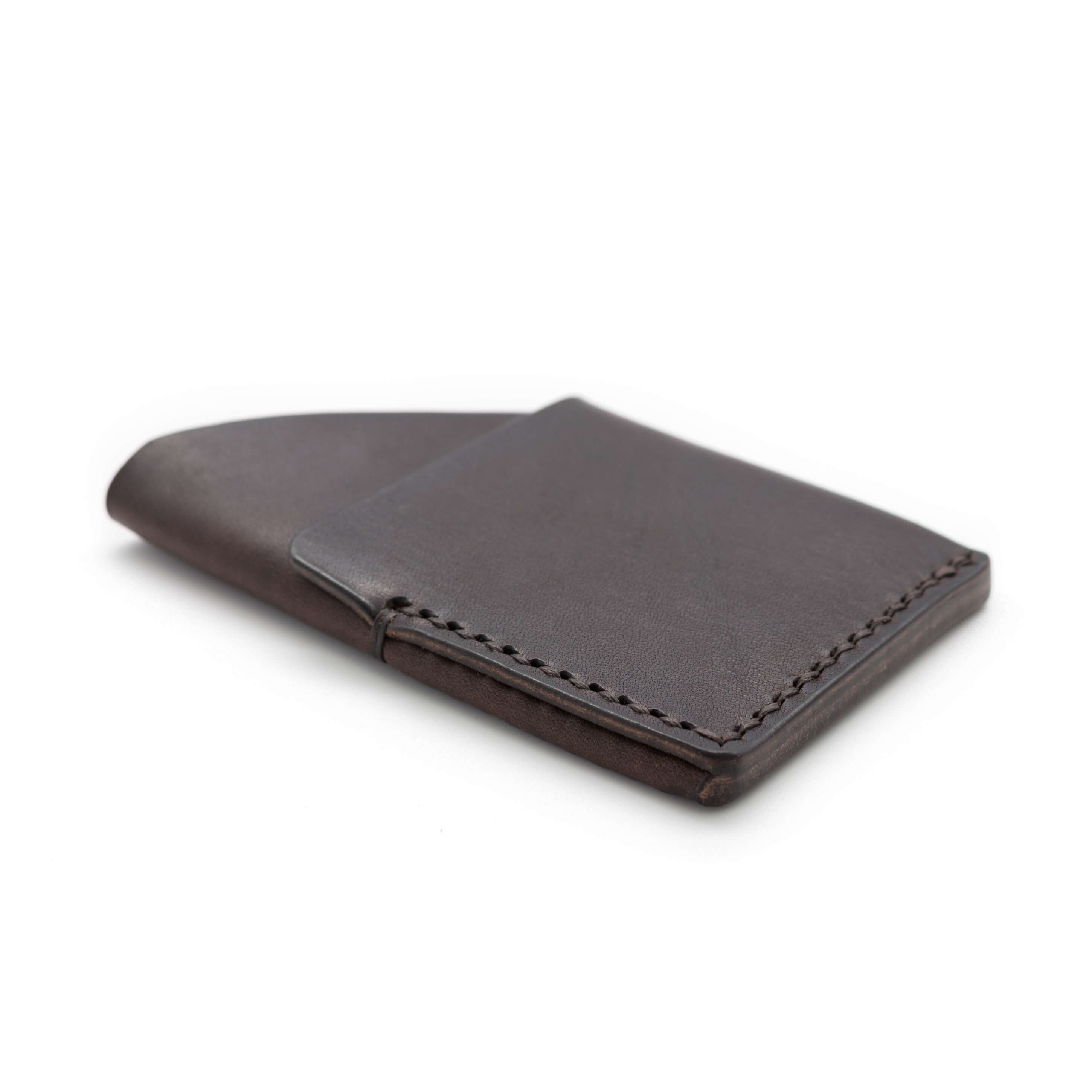 hand stitched leather wallet, card holder