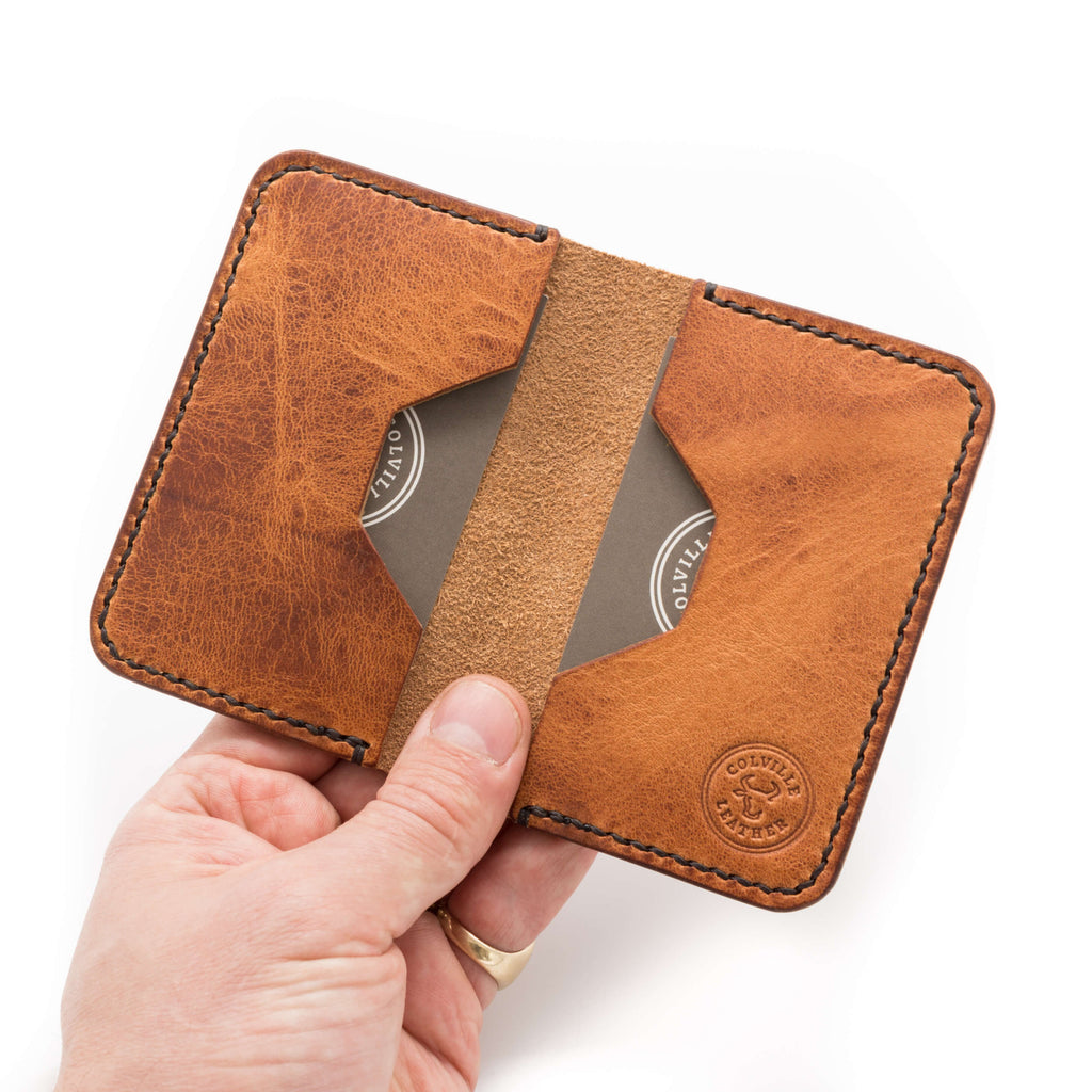 Leather wallet in Horween Derby English Tan leather