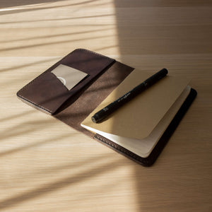 dark brown leather notebook cover, Field Notes notebooks