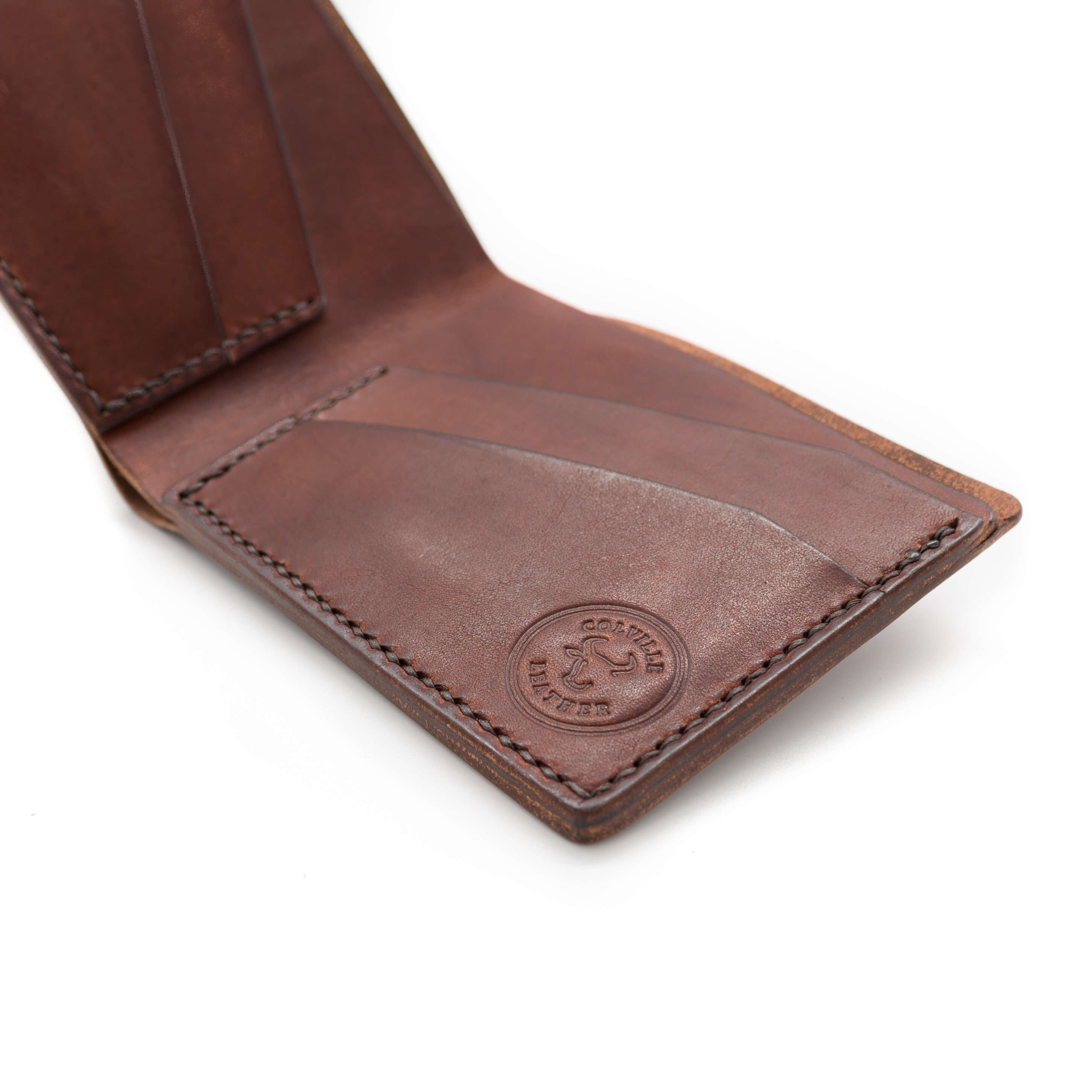 Colville Leather handmade leather bifold wallet