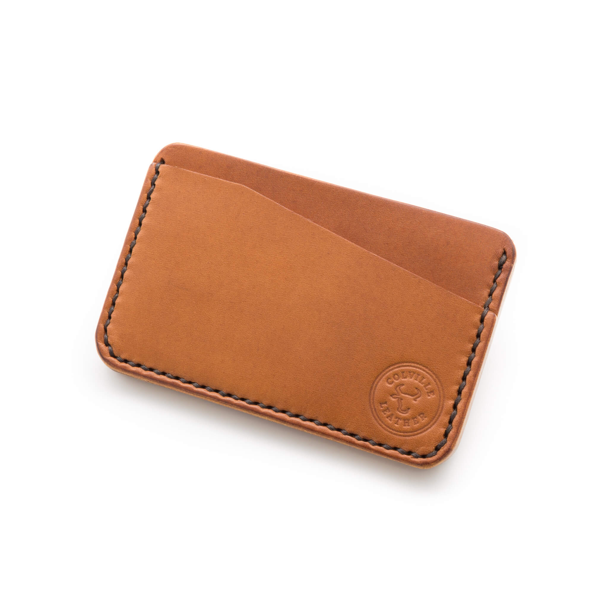 Handmade leather wallet in Tan coloured leather