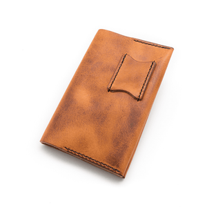 Leather notebook cover for Moleskine and Field Notes
