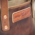 Image showing the stitching detail of the Leather Tote Bag by Colville Leather