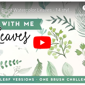 How to Paint Watercolor Leaves - 14 styles with only one brush!