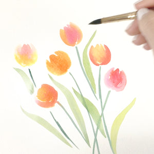 How to Paint: Watercolor Tulips (Simple + Easy)